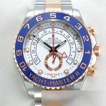 Rolex Yacht-Master II Золото/Cталь 44mm Белый Без цифр