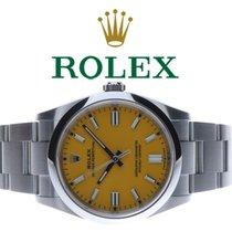 Rolex Oyster Perpetual 36 Сталь 36mm Желтый Без цифр