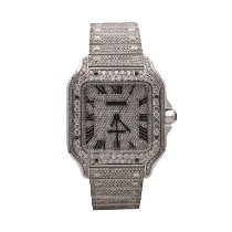 Cartier Santos (submodel) Steel 39.8mm Silver Roman numerals United States of America, New York, New York