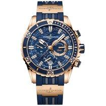 Ulysse Nardin Diver Chronograph Rose gold 44mm Blue No numerals