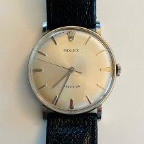 Rolex Oyster Precision 9659 Sehr gut Silber 34mm Handaufzug Schweiz, Le Lignon
