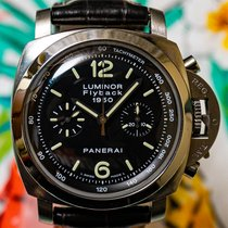 Panerai Luminor 1950 3 Days Chrono Flyback PAM 00212 Very good Steel 44mm Automatic