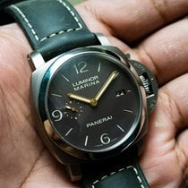 Panerai Luminor Marina 1950 3 Days Automatic Titanium 44mm Brown Arabic numerals