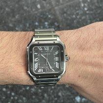 Cartier Santos (submodel) Steel 39.8mm Grey Roman numerals United States of America, New York, New York