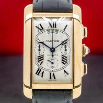 Cartier Rose gold Automatic 31.4mm Tank Américaine