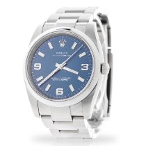 Rolex Oyster Perpetual 34 pre-owned 34mm Blue Steel