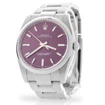 Rolex Oyster Perpetual 34 Steel 34mm Purple Arabic numerals