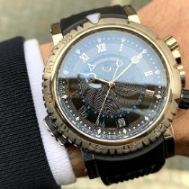 Breguet pre-owned Automatic 45mm Black Sapphire crystal 30 ATM