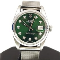 Rolex Oyster Perpetual Date Сталь 34mm Зеленый Без цифр