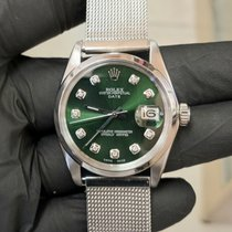 Rolex Oyster Perpetual Date Steel 34mm Green No numerals United States of America, California, Sylmar