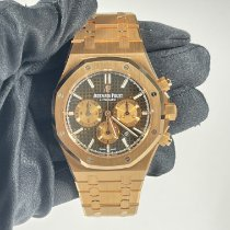 Audemars Piguet Royal Oak Chronograph Rose gold 41mm Brown No numerals