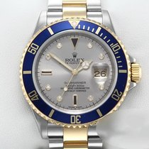 Rolex Submariner Date Gold/Steel 40mm Grey No numerals