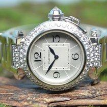 Cartier Pasha neu Quarz Uhr mit Original-Box und Original-Papieren 2813 / Code: 7655
