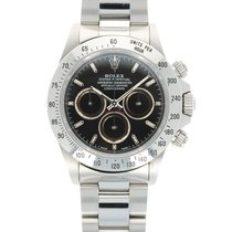 Rolex Steel Automatic Black 40mm pre-owned Daytona