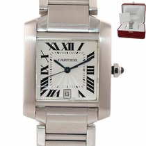 Cartier Tank Française Steel 32mm Silver Roman numerals United States of America, New York, Huntington
