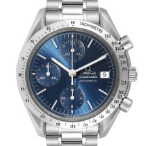 Omega Speedmaster Date pre-owned 39mm Blue Chronograph Date Tachymeter Steel