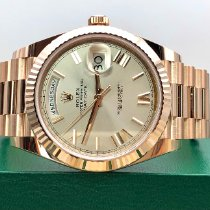 Rolex Day-Date 40 Or rose 40mm Argent (massif) Romains