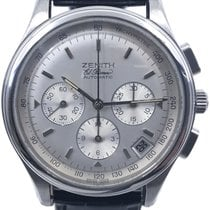 Zenith El Primero Chronograph pre-owned 40mm Silver Chronograph Date Leather