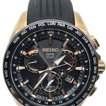 Seiko Astron GPS Solar Chronograph pre-owned 45mm Black Date Steel