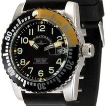 Zeno-Watch Basel Airplane Diver Сталь 45mm Черный