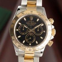 Rolex Daytona Zlato/Ocel 40mm Černá