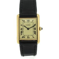 Cartier Tank Vermeil Silver 24mm Gold