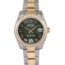 Rolex Lady-Datejust Gold/Steel 31mm Green Roman numerals UAE, Dubai