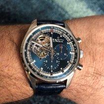 Zenith El Primero Chronomaster używany 42mm Niebieski Chronograf Skóra krokodyla