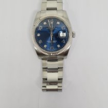 Rolex Oyster Perpetual Date Acier 34mm Bleu Arabes France, PARIS