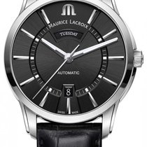 Maurice Lacroix Pontos Day Date Steel 41mm Black