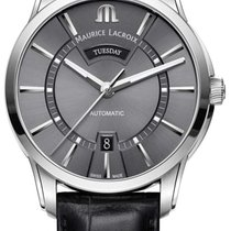 Maurice Lacroix Pontos Day Date Steel 41mm Grey