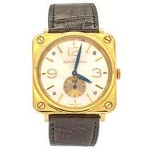 Bell & Ross Rose gold Manual winding Silver 39mm pre-owned BR S