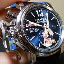 Graham Chronofighter new Automatic Chronograph Watch with original box 2CVAS.A01A.L132S