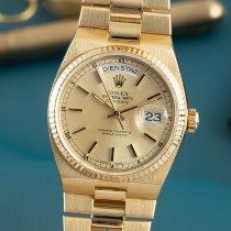 Rolex Day-Date Oysterquartz 19018 Meget god Gult guld 36mm Kvarts