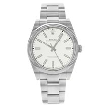 Rolex Oyster Perpetual 39 Acero 39mm Blanco