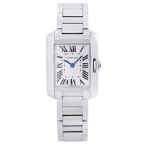 Cartier Tank Anglaise Steel 22.5mm Silver Roman numerals United States of America, New York, NYC