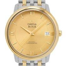 Omega De Ville Prestige usados 36.8mm Champán Fecha Acero y oro
