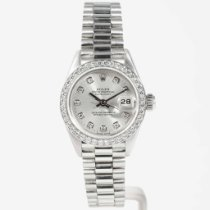 Rolex Platinum Automatic Silver pre-owned Lady-Datejust