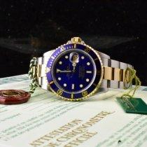 Rolex Submariner Date Золото/Cталь 40mm Синий Без цифр