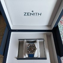 Zenith Defy pre-owned 41mm Transparent Date Crocodile skin