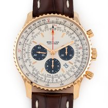 Breitling Rose gold Automatic Silver 46mm pre-owned Navitimer 01 (46 MM)