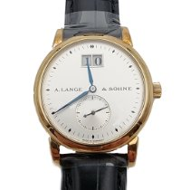 A. Lange & Söhne Yellow gold Manual winding Silver pre-owned Saxonia