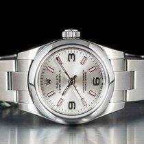 Rolex Oyster Perpetual 26 Acciaio 26mm Argento Arabi Italia, Bologna