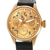 IWC Rose gold Automatic Champagne Arabic numerals 46mm pre-owned Big Pilot
