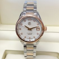 TAG Heuer Carrera Lady Gold/Steel 28mm Mother of pearl No numerals