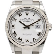 Rolex Datejust Or blanc 36mm Blanc Romains France, Toulouse