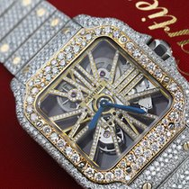 Cartier Santos (submodel) neu Handaufzug Uhr mit Original-Box und Original-Papieren WHSA0019