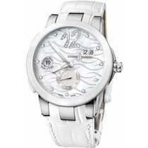 Ulysse Nardin Steel Automatic Roman numerals 40mm new Executive Dual Time Lady