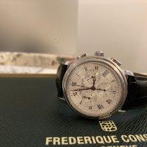 Frederique Constant Classics Chronograph Steel 40mm Silver Roman numerals