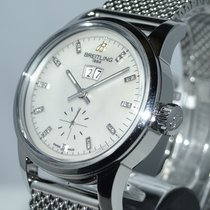 Breitling Transocean 38 Steel 38mm Mother of pearl No numerals
